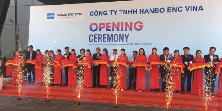 Công ty tổ chức lễ khánh thành chuyên nghiệp tại Vĩnh Phúc | Lễ khánh thành nhà máy sản xuất Hanbo Enc Vina