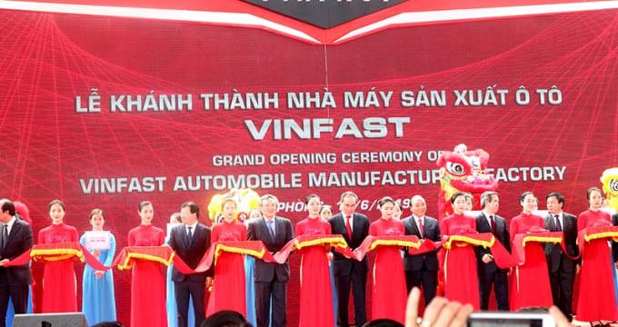 Công ty tổ chức lễ khánh thành tại Hải Phòng | Vinfast khánh thành nhà máy sản xuất ô tô