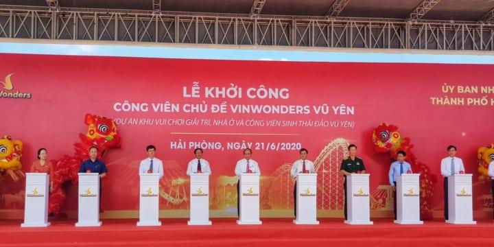 Công ty tổ chức lễ khởi công tại Hải Phòng   Lễ khởi công Công viên chủ đề Vinwonders Vũ Yên