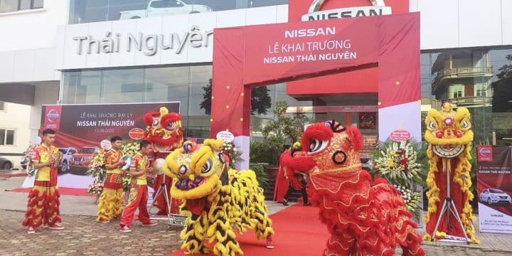 Công ty tổ chức lễ khai trương tại Thái Nguyên | Nissan Việt Nam khai trương đại lý tại Thái Nguyên