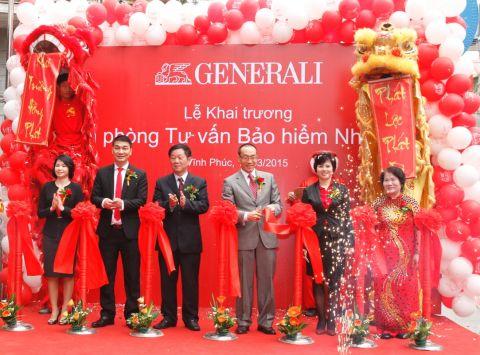 Công ty tổ chức lễ khai trương giá rẻ tại Vĩnh Phúc | Generali Việt Nam khai trương văn phòng tại Vĩnh Phúc