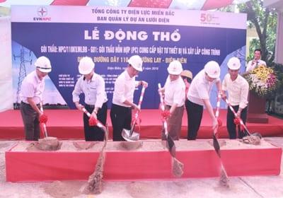 Công ty tổ chức lễ động thổ giá rẻ tại Điện Biên   Lễ động thổ đường điện 110KV Mường Lay – Điện Biên