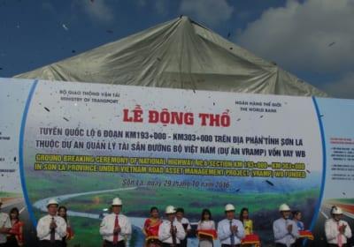 Công ty tổ chức lễ động thổ tại Sơn La   Lễ động thổ xây dựng 110 km tuyến QL6