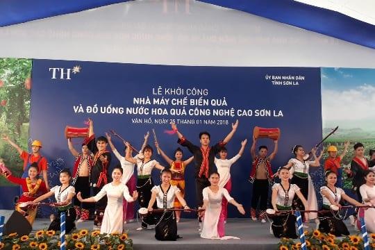 Công ty tổ chức lễ khởi công tại Sơn La | Lễ khởi công xây dựng Nhà máy chế biến hoa quả do Tập đoàn TH