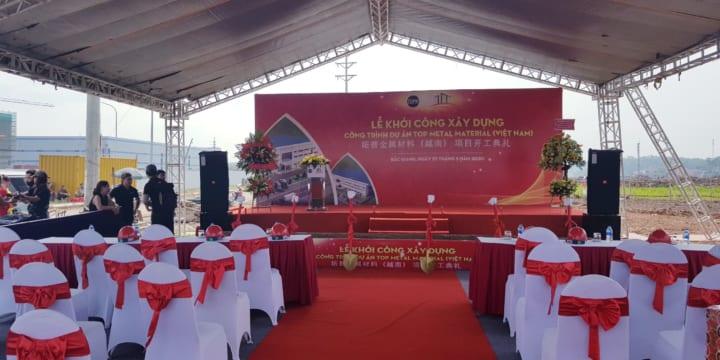 Công ty tổ chức lễ khởi công giá rẻ tại Bắc Giang | Lễ Khởi Công Xây Dựng Công Trình Dự Án Top Metal Material
