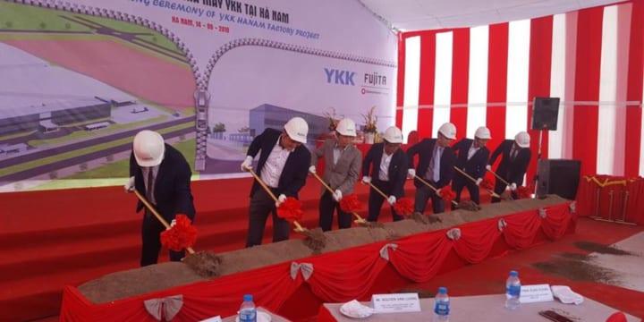 Công ty tổ chức lễ động thổ tại Hà Nam | Lễ động thổ xây dựng nhà máy của Công ty TNHH YKK