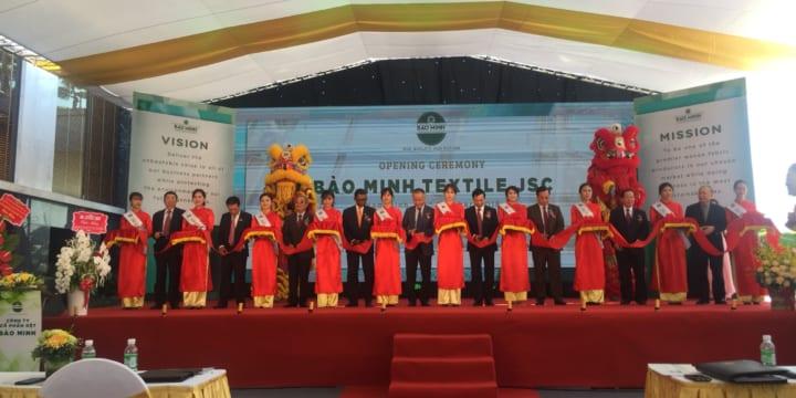 Công ty tổ chức lễ khánh thành tại Nam Định | Lễ khánh thành nhà máy Dệt Bảo Minh