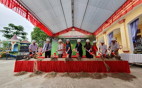 Công ty tổ chức lễ khởi công tại Ninh Bình | Tập đoàn Thành Công & Hyundai tổ chức lễ khởi công điểm trường mầm non tại Ninh Bình