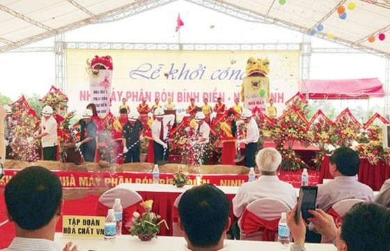 Công ty tổ chức lễ khởi công chuyên nghiệp tại Ninh Bình | Lễ khởi công nhà máy phân bón NPK Bình Điền – Ninh Bình